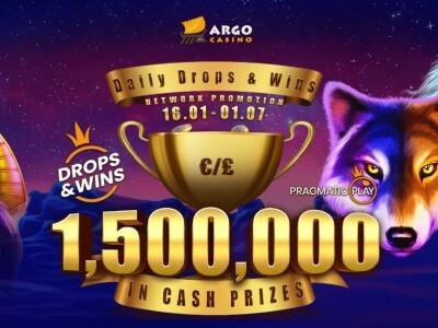 Мгновенные призы на €1,500,000 в казино Argo!